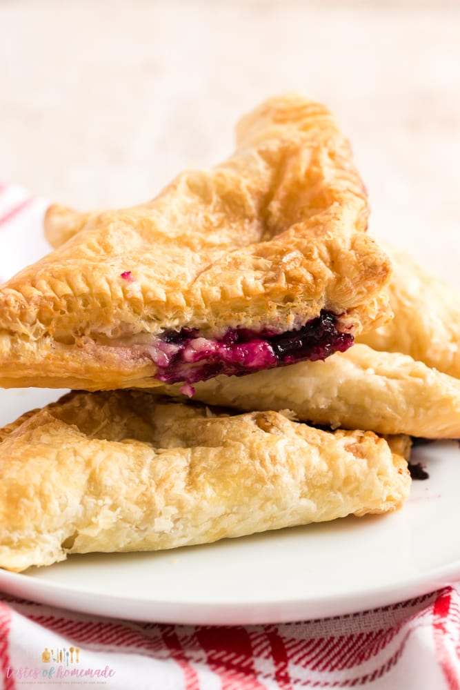 Air fryer blueberry turnovers