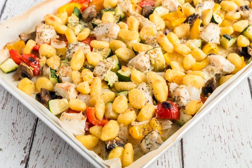 chicken gnocchi vegetables