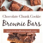 Chocolate chunk cookie brownies
