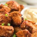 Chicken bites on a plate