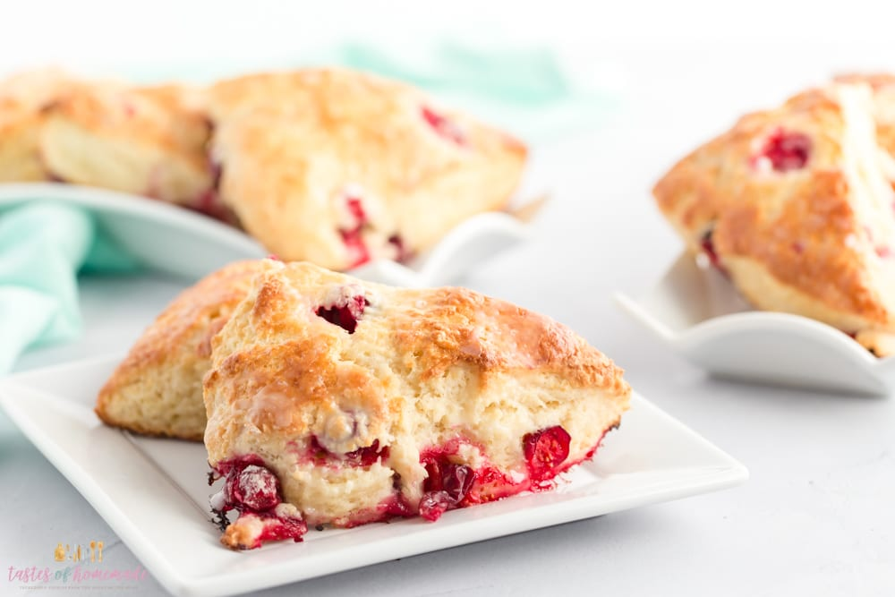 Cranberry Scones on a plate