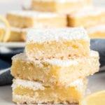Lemon squares in a stack