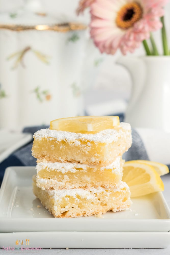 Lemon squares in a stack