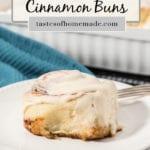 Cinnamon bun on a plate