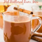 Hot buttered rum in mugs