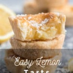 Lemon tarts in a stack