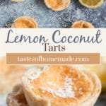 Lemon tarts on a table