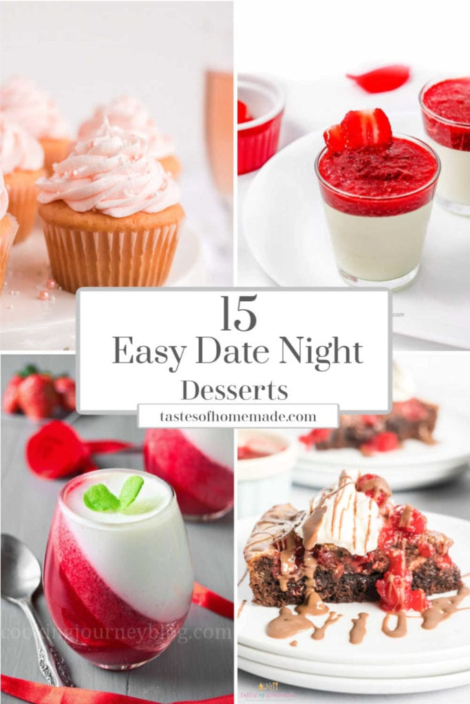 easy date night desserts in a collage