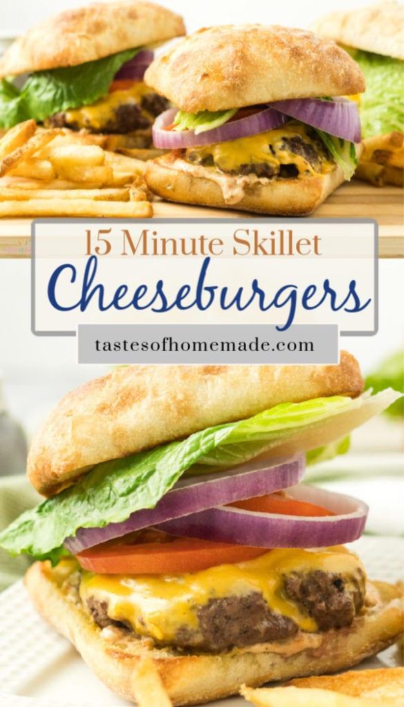 quick skillet cheeseburgers  tastes of homemade