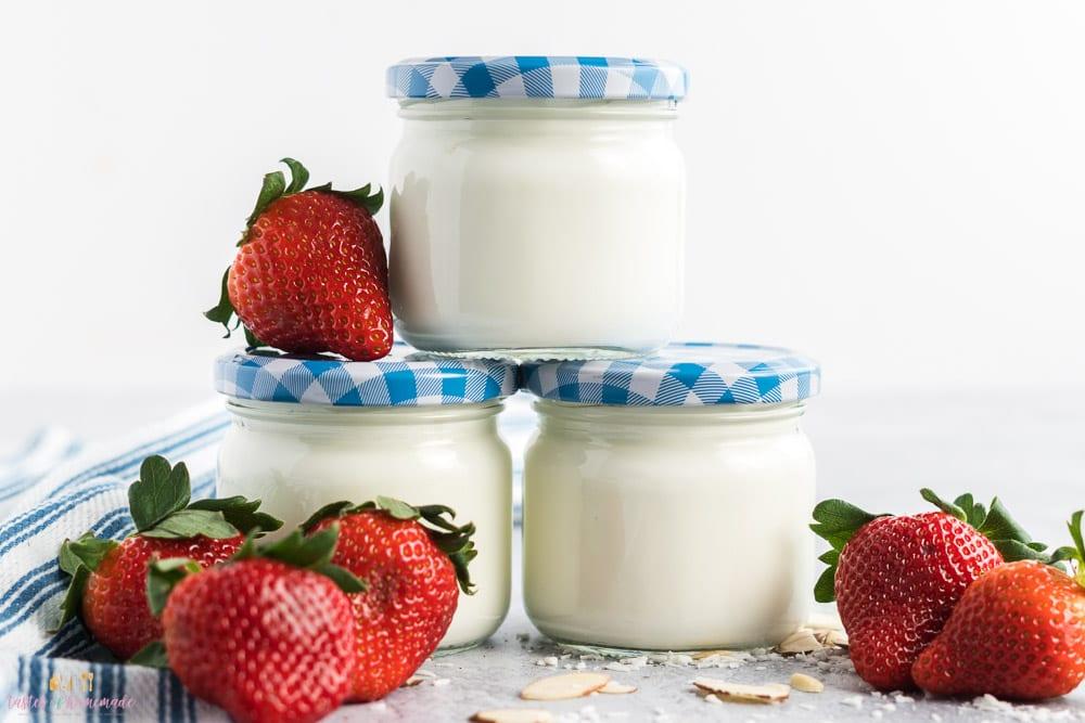3 jars of instant pot yogurt.