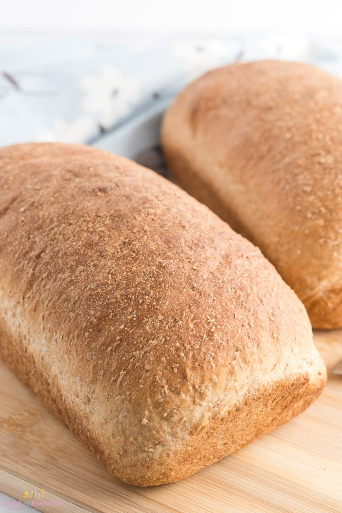 Loaf of honey whole wheat bread