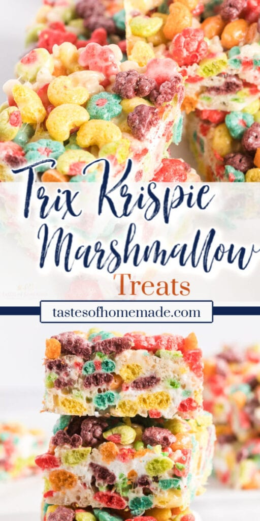 Pin image of trix krispie cereal squares