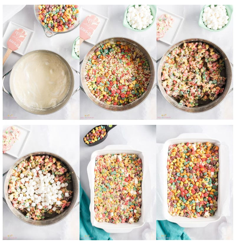 Images showing How to make cereal squares
