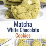 Pinterest image with 3 photos of cookies and text overlay