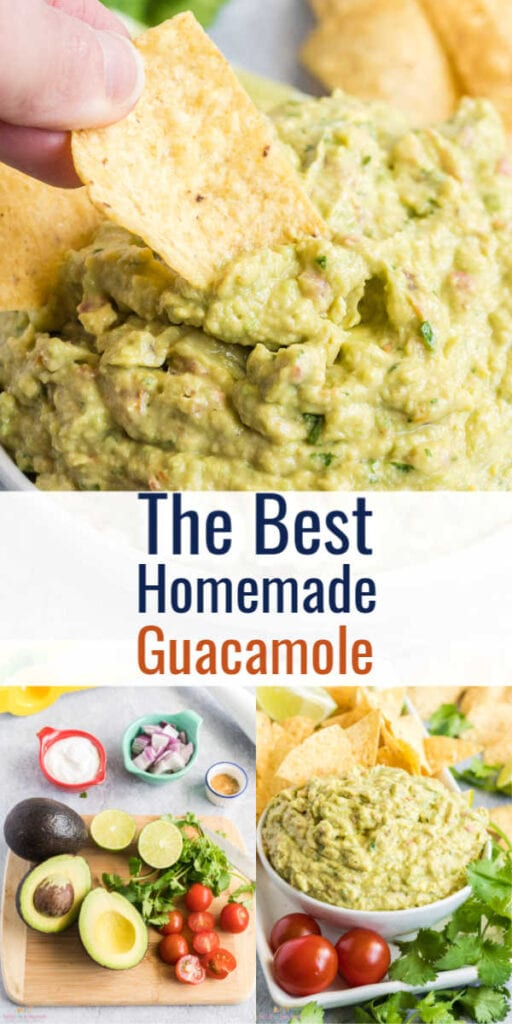 Pin image of guacamole with text overlay