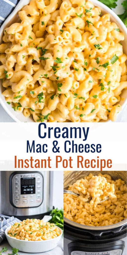 Pin image of Mac and cheese with text overlay