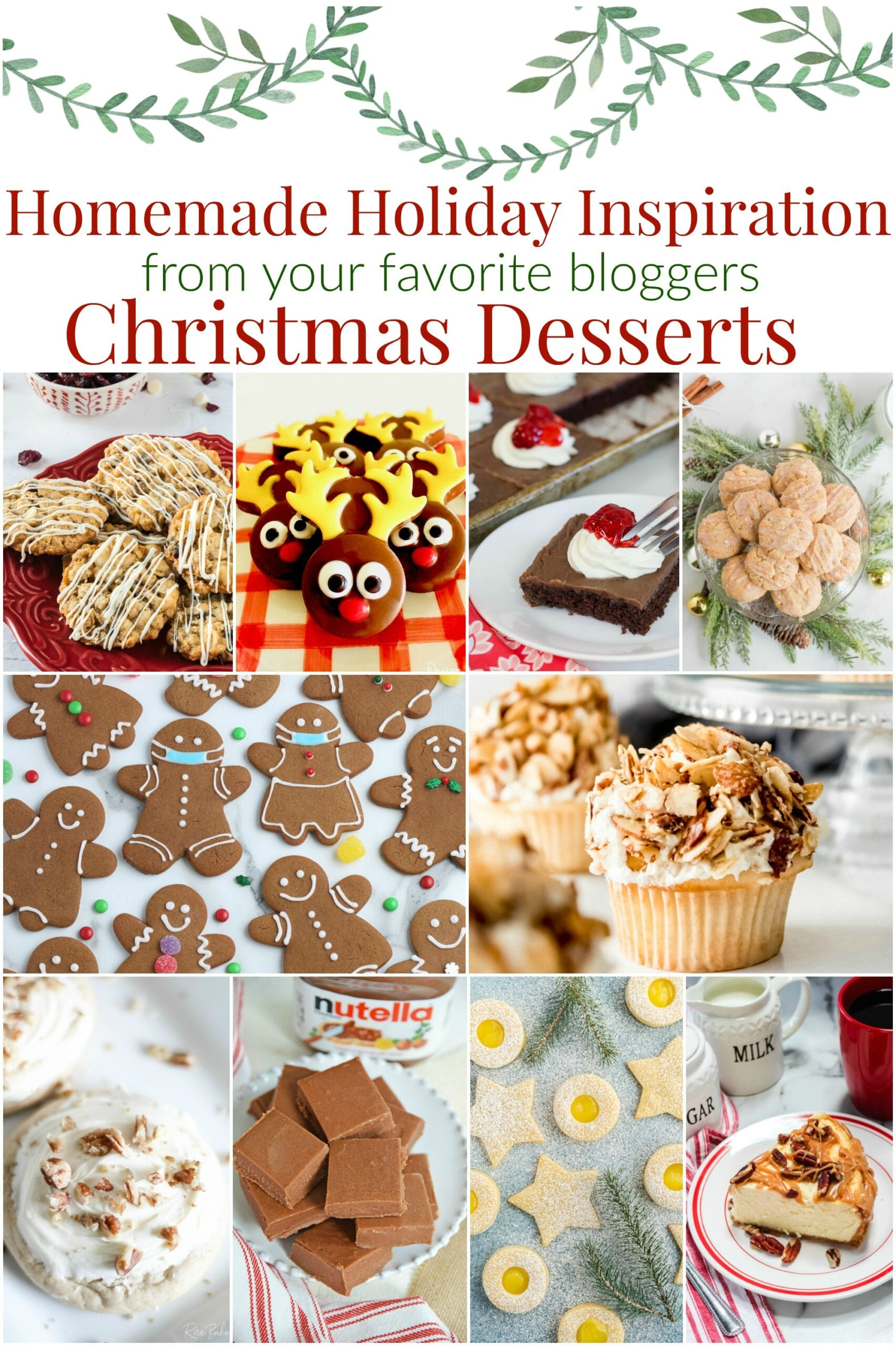 Holiday Desserts Collage with text overlay.
