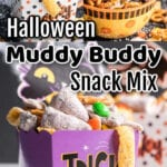 Collage of Snack mix Images with text overlay.