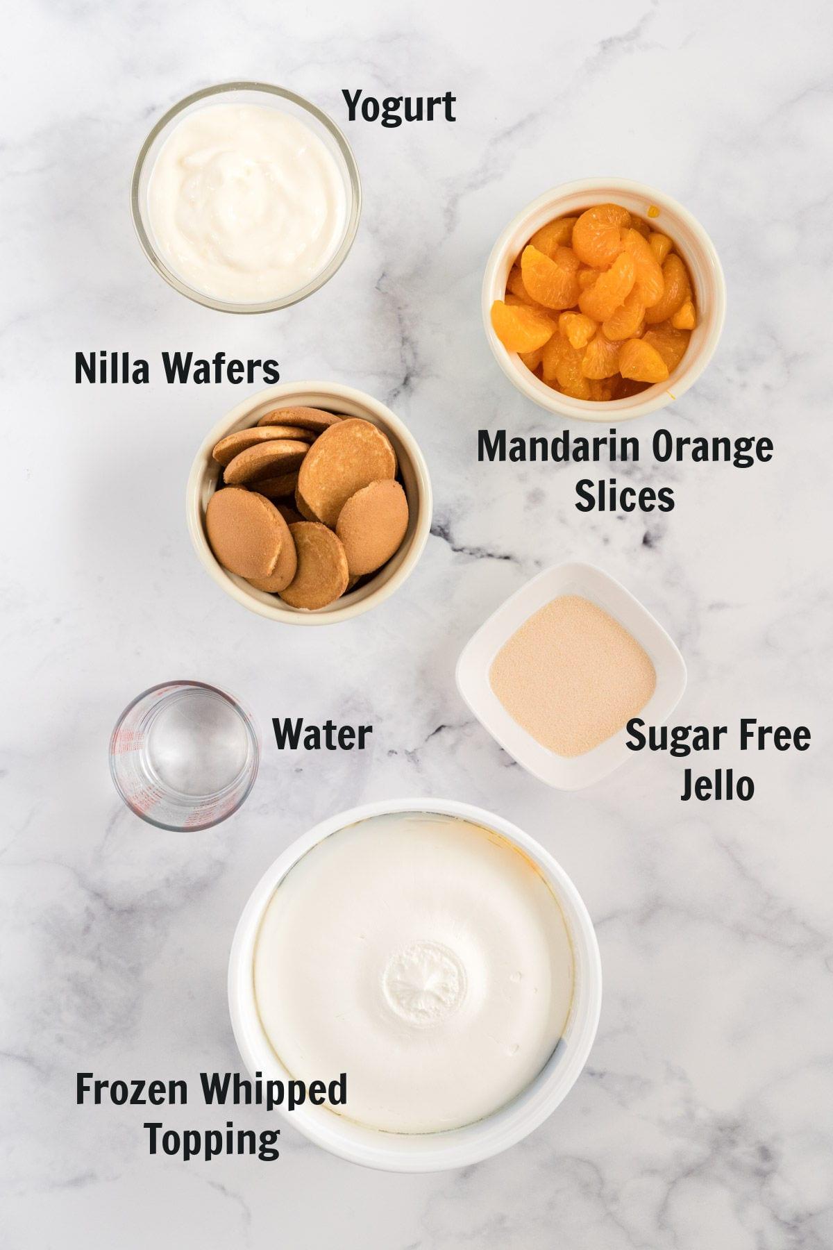 Ingredient to make layered parfaits.