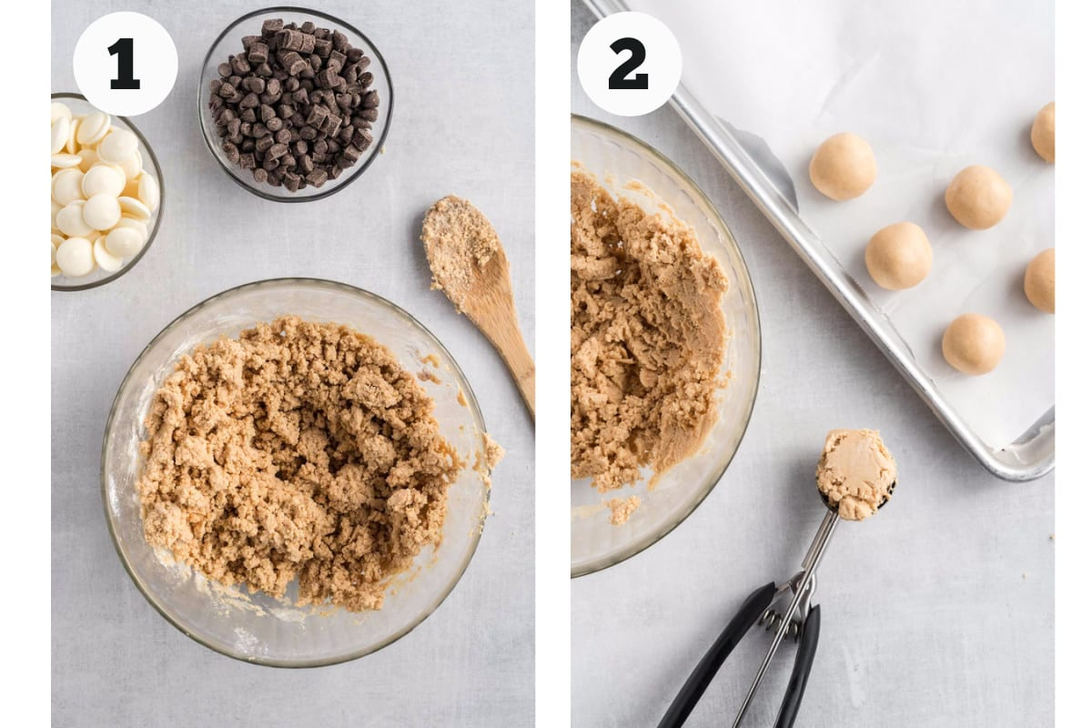 Process to form peanut butter balls.