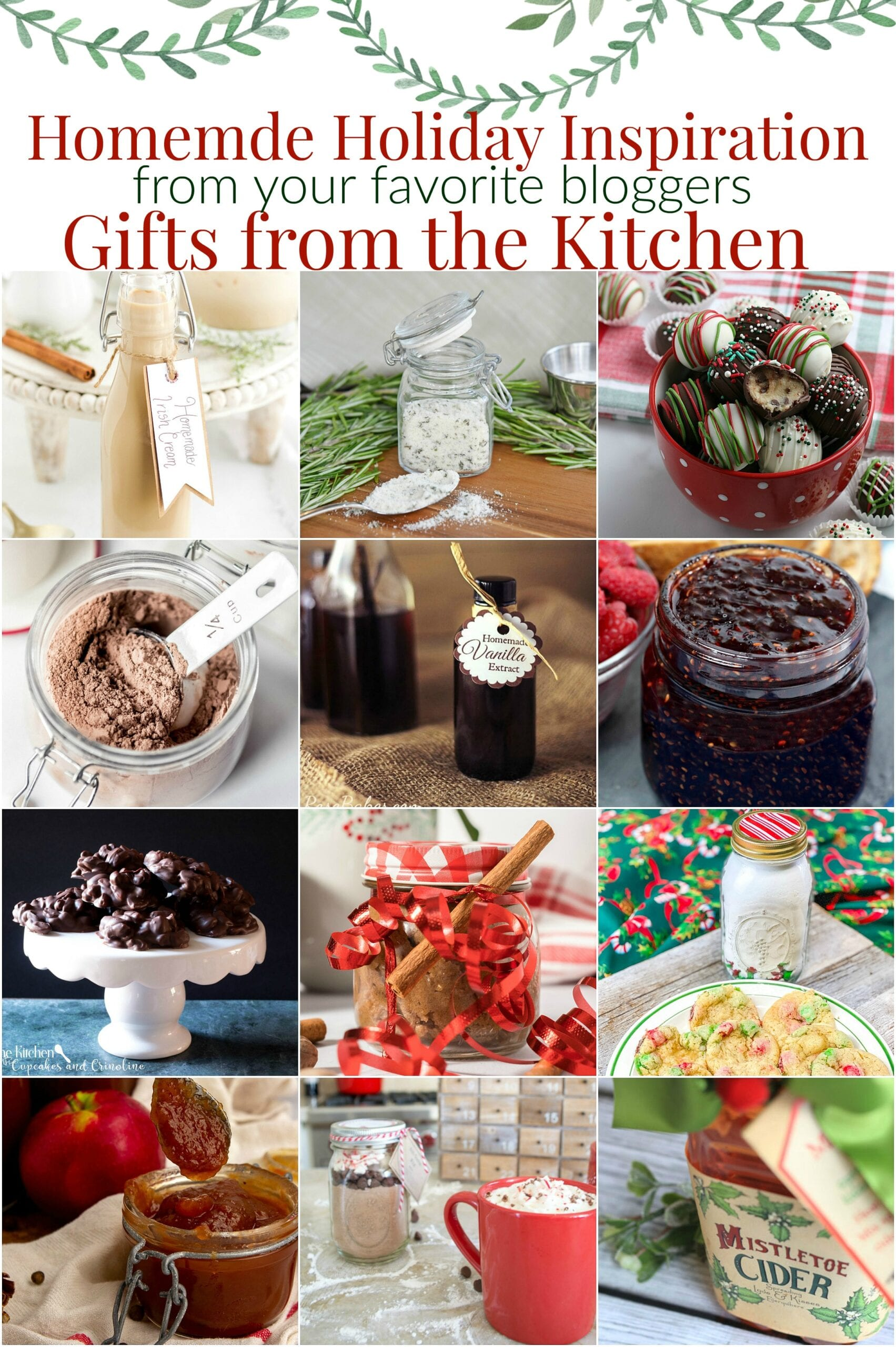 Collage of homemade holiday gifts with text overlay.