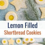 Collage of shortbread cookie images with text overlay.