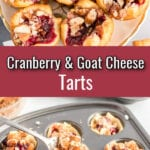 Cranberry Tarts with text overlay.