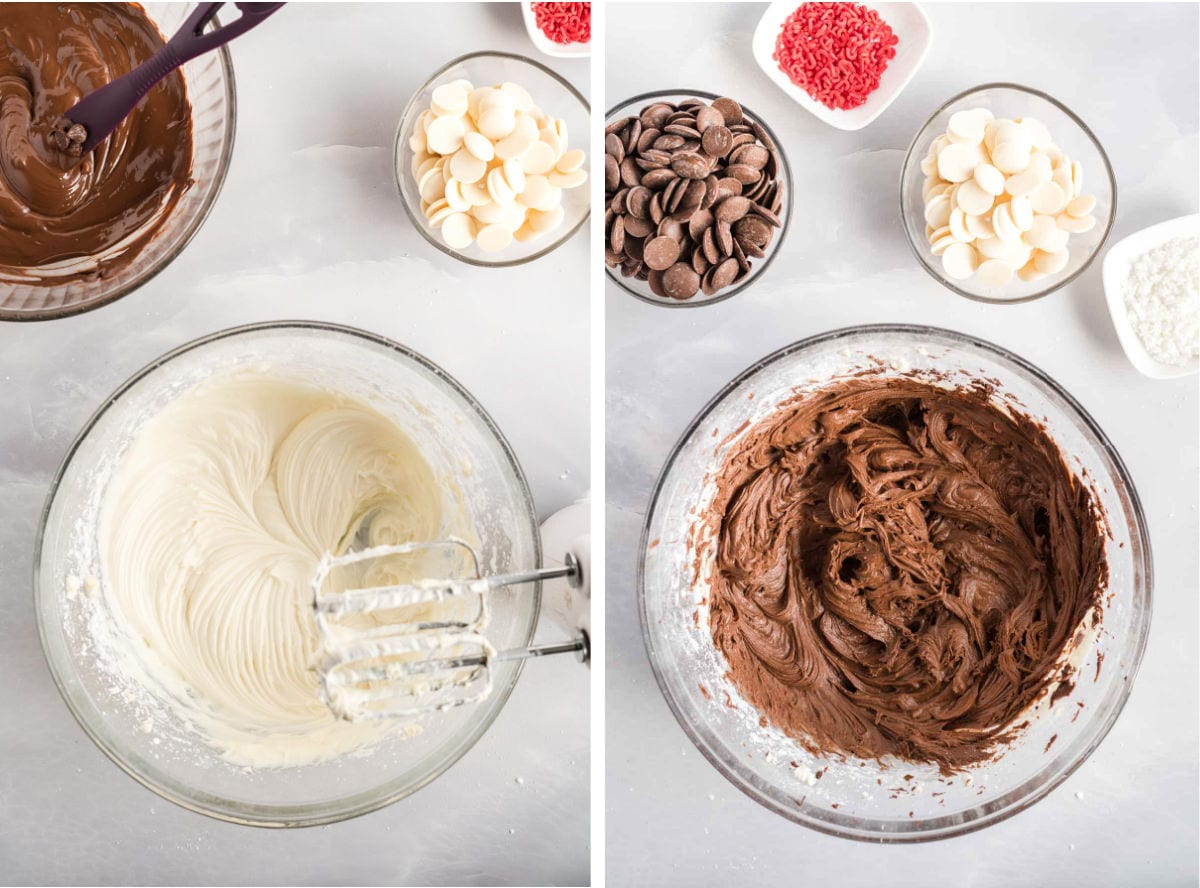 Process images showing how to make truffles.